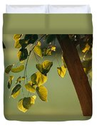 Close View Of A Tree Branch And Leaves Duvet Cover