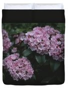 Close View Of Flowering Mountain Laurel Duvet Cover