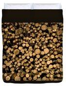 Close View Of Freshcut Wood Waiting Duvet Cover