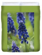 Close View Of Grape Hyacinth Flowers Duvet Cover