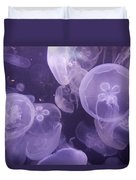 Close View Of Jellyfish Duvet Cover
