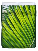 Close View Of Palm Fronds Duvet Cover