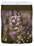 Close View Of Purple Wildflowers Duvet Cover