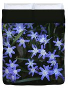 Close View Of Spring Flowers Duvet Cover