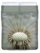 Closeup Of Dandelion Seed Head Duvet Cover