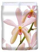 Closeup Pink Orchid Duvet Cover