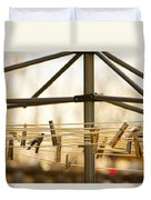 Clothespins On The Line Duvet Cover