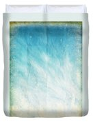 Cloud And Blue Sky On Old Grunge Paper Duvet Cover