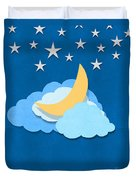 Cloud Moon And Stars Design Duvet Cover