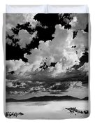 Clouds Above White Sands Duvet Cover