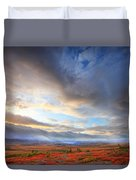 Clouds At Sunrise At The Arctic Circle Duvet Cover