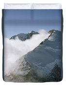 Clouds Drif Through Peaks Of The Queen Duvet Cover