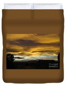 Clouds Illuminated At Sunset Duvet Cover