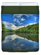 Clouds In The Lake Duvet Cover by Adam Jewell