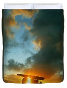 Clouds Over A Tomb, Poulnabrone Dolmen Duvet Cover