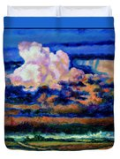 Clouds Over Country Road Duvet Cover