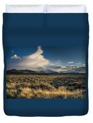 Clouds Over East Humboldts Duvet Cover