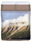 Clouds Over Porphyry Mountain Duvet Cover