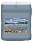 Clouds Over The American River Duvet Cover