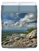 Clouds Over The Cliff Duvet Cover