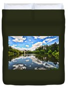 Clouds Reflection On Water Duvet Cover