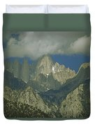 Clouds Shadow Rocky Mountain Peaks Duvet Cover