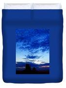 Cloudy Blue Monument Duvet Cover