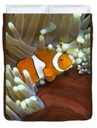 Clown Anemonefish In Anemone, Great Duvet Cover