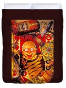 Clown Toy And Old Playthings Duvet Cover