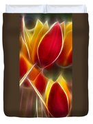 Cluisiana Tulips Triptych Panel 3 Duvet Cover