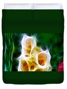 Cluster Of Gladiolas Triptych Panel 1 Duvet Cover