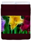 Cluster Of Gladiolas Triptych Panel 3 Duvet Cover