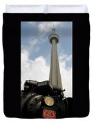 Cn Tower And Train Duvet Cover