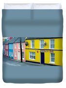Co Cork, Eyeries Village In The Rain Duvet Cover by The Irish Image Collection