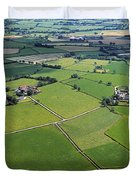 Co Fermanagh, Ireland Aerial View Of Duvet Cover