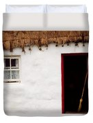 Co Galway, Ireland Detail Of A Cottage Duvet Cover