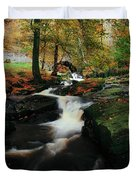 Co Wicklow, Ireland Waterfalll Near Duvet Cover