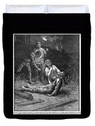 Coal Mine Disaster, 1884 Duvet Cover