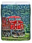 Coal Train Hdr Duvet Cover