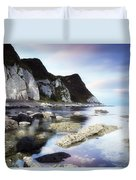 Coast Between Carnlough & Waterfoot, Co Duvet Cover