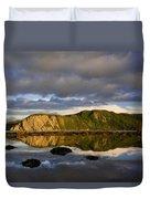 Coastal Cliffs In Evening Light Duvet Cover