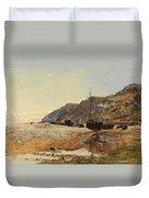 Coastal Scene Duvet Cover by Henry Moore