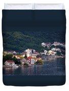 Coastal Town Of Montenegro Duvet Cover
