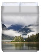 Coastline, Endicott Arm, Inside Duvet Cover