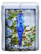 Cobalt Blue Bottle Triptych 1 Of 3 Duvet Cover by Andee Design