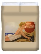 Coca Cola  Vintage Sign Duvet Cover