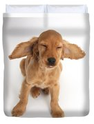 Cocker Spaniel Puppy Making A Face Duvet Cover