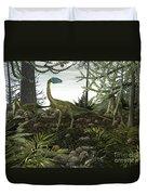 Coelophysis Dinosaurs Walk Amongst Duvet Cover