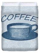 Coffee 1-2 Scrapbook Duvet Cover