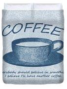 Coffee 1 Scrapbook Duvet Cover